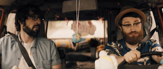 Manuel Burque y Quique Peinado en un spot del realizador Pedro Díaz